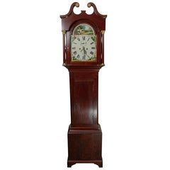 Small Unusual Fine Rosewood Longcase Clock by Jones of Tenby