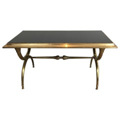 Attributed to Raymond Subes, Neoclassical Bronze and Bass Coffee Table