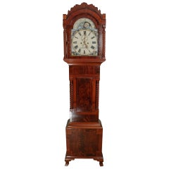 Flame Mahogany Moon Phase Clock by Meredith of Merthyr Tydfil in Wales