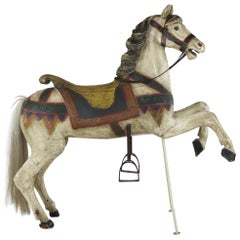 Vintage Wooden Carousel Horse circa 1920s Carved and Handpainted