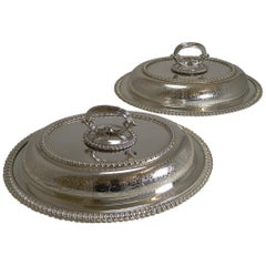 Pair of Elkington Silver Plated Entree/Serving Dishes, 1884