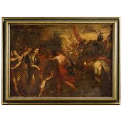 18th Century Oil on Canvas Italian Painting Victory after Battle, 1770