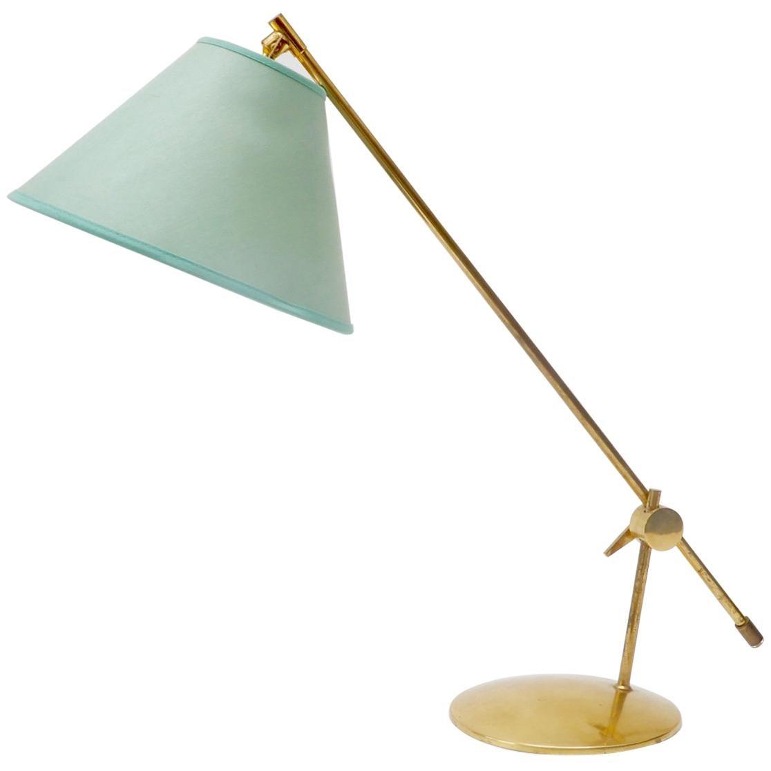 Scandinavian Brass Table Lamp, 1960s