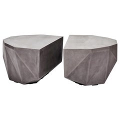 Gemstone Indoor/Outdoor Center Table, Dark Grey