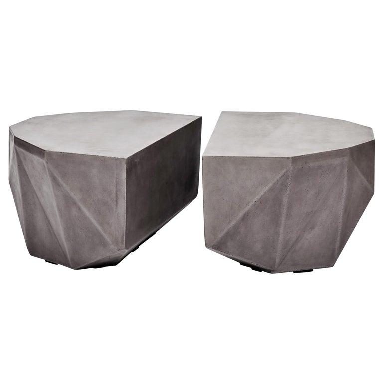 Gemstone Indoor/Outdoor Center Table, Dark Grey For Sale