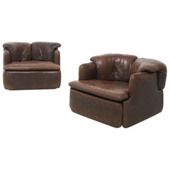 2 'Confidential' Lounge Chairs, Alberto Rosselli