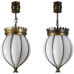 Pair of Italian Wrought Cage Pendants