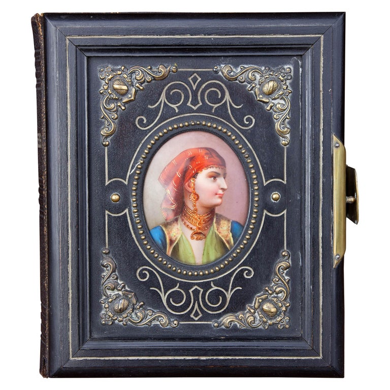 Orientalist Leather Photograph Album, 19th Century For Sale
