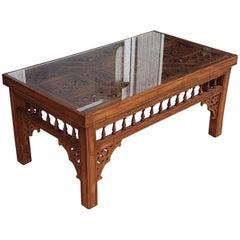 Moroccan Rectangular Coffee Table, Cedar Wood