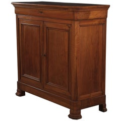 French Louis Philippe Walnut Buffet d'Appui, Mid-1800s
