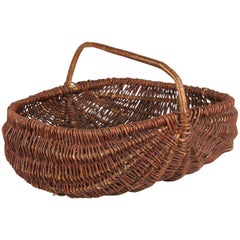French Wicker Basket from Auvergne Region