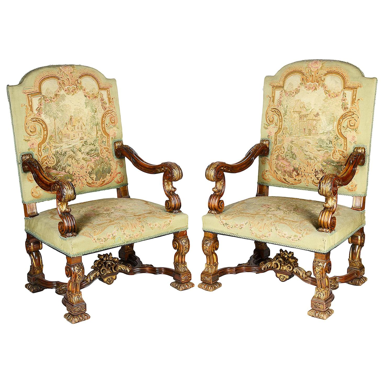 Pair of 19th Century French Louis XIV Armchairs