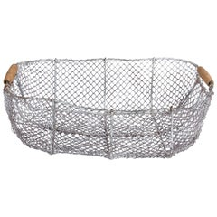 Vintage French Wire Basket, 1940s