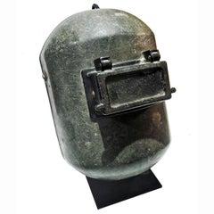 Vintage Fiberglass Welding Mask, Mid-20th Century