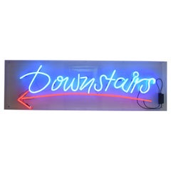 1980s Large Neon Sign Downstairs in a Acrylic Showcase
