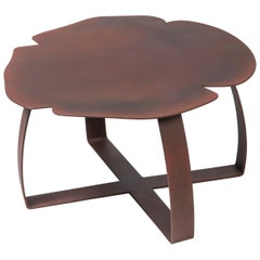 Small Table Andy Iron Low, Flower Shape, Lacquered Iron, Italy