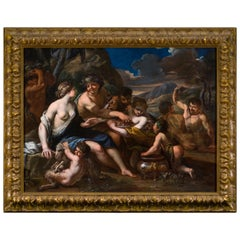 17th Century Italian Bacchanalia Scene Attributed to Alessandro Rosi
