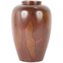 Large Patinated Japanese Bronze Vase