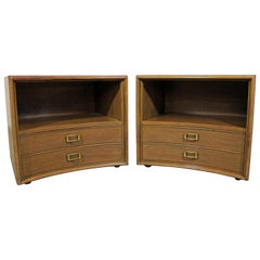 Pair Of Mid Century Modern Paul Frankl Emissary For John Stuart Nightstands