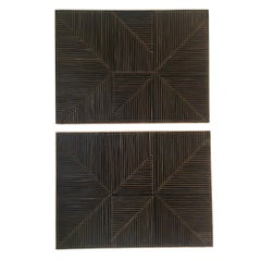 Mixed Media Contemporary Leather Panels by Michelle Peterson-Albandoz