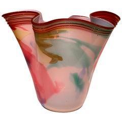 Dino Martens Murano Artistic Blown Glass Multi-Color Vase, circa 1950