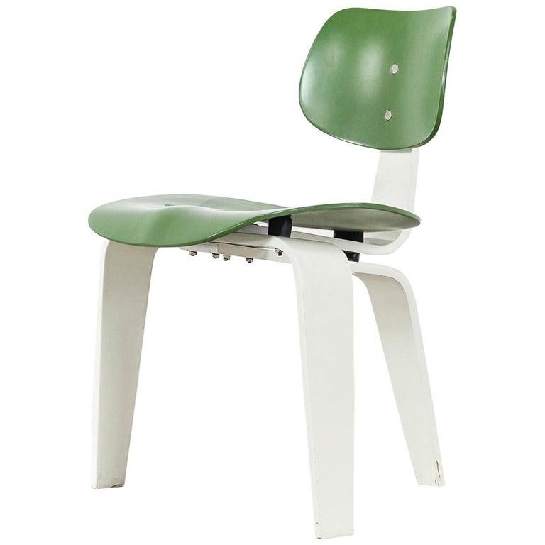 Egon Eiermann, Plywood Chair SE 42, Germany 1955 Early Edition Wilde & Spieth For Sale
