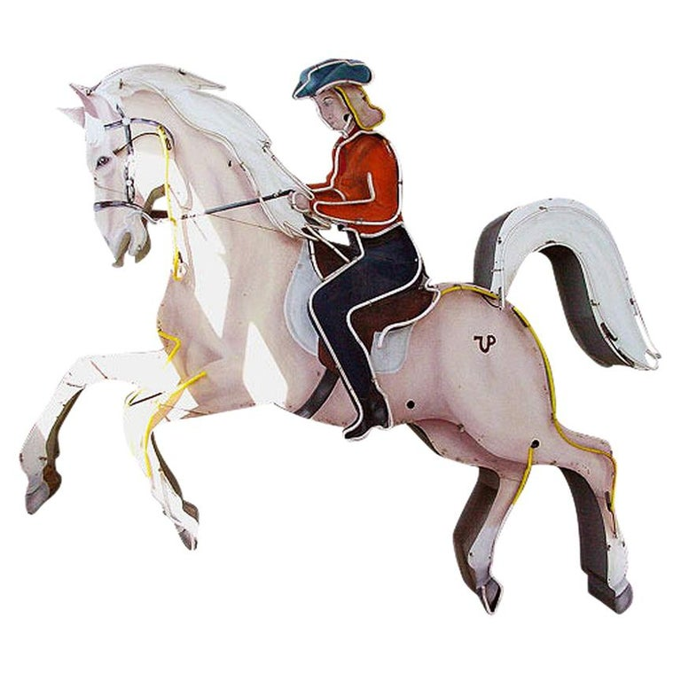 Large Cowgirl on Horse Neon Sign from the Westerner Club ...