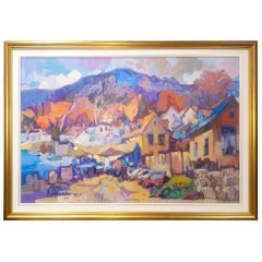 'Les Laurentides' Contemporary Oil on Board Painting Bedros Aslanian