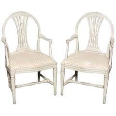Pair of Early 20th Century Gustavian Style Armchairs