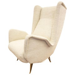 Large Wing Chair by ISA Bergamo, Italy, 1960s