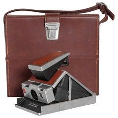 Midcentury Polaroid SX-70 Land Camera, with Original Case and Accessories