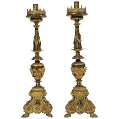 Antique Pair of Candlesticks, Italy, 18th Century