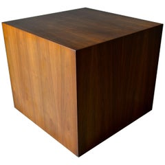 Walnut Cube Table from the Private Collection of Julius Shulman, circa 1955