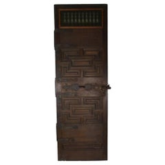 19th Century Spanish Original Chestnut Door