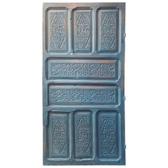 Old Blue Moroccan Wooden Door, 23MD40
