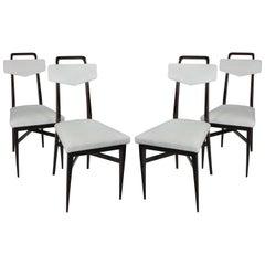 Set Four Midcentury Italian Kitchen Chairs
