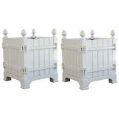 Pair of 21st Century Versailles Planters in White