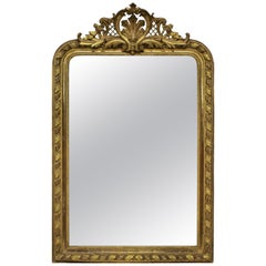 Fine French Water Gilded over Mantle Mirror