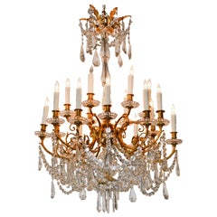 19th Century French Baccarat Chandelier