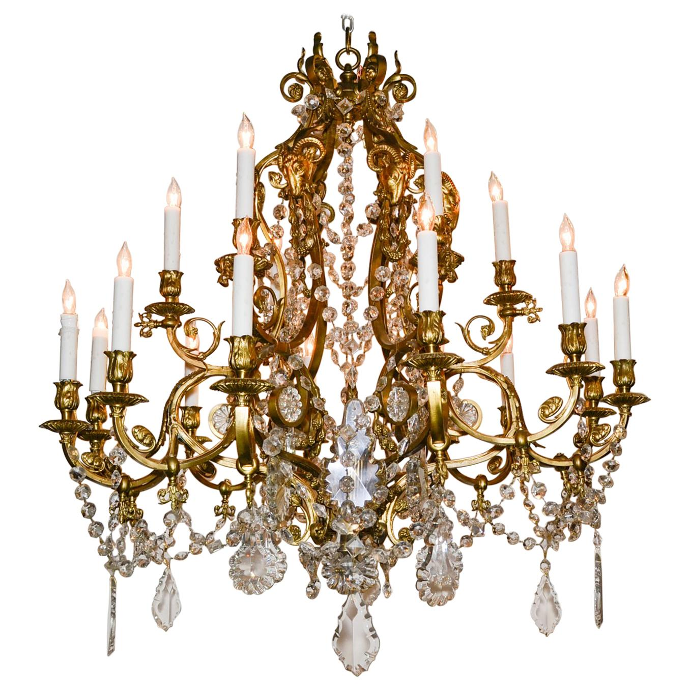 19th Century French Neoclassical Bronze Chandelier