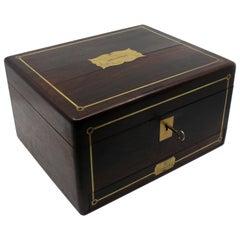 Early 19th Century Brass Inlaid Rosewood Writing Box by William Wilson Edinburgh