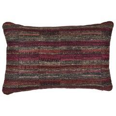Indian Handwoven Pillow Sunset Stripes