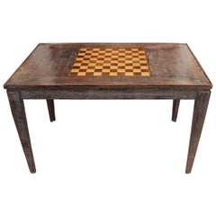 French Cerused Oak Game Table