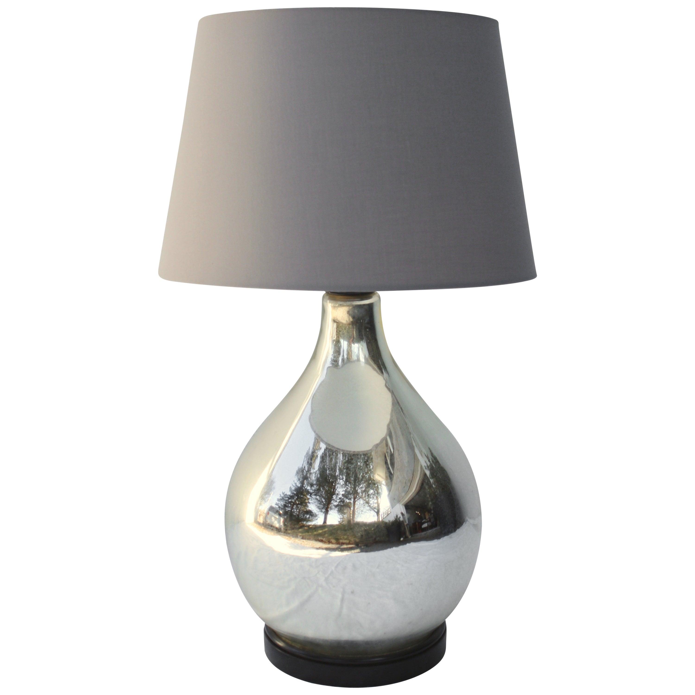 Large Mercury Glass Table Lamp