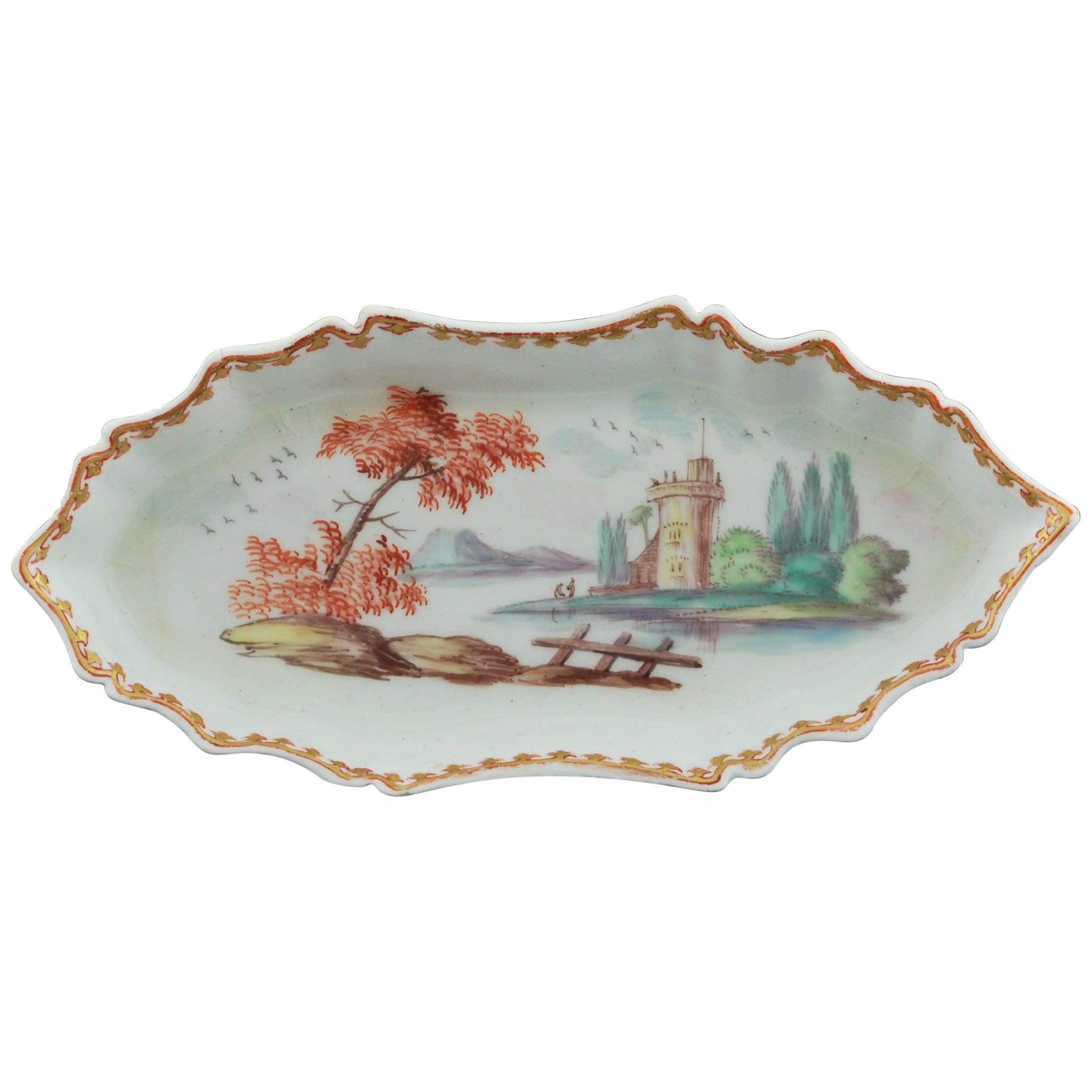 Spoon Tray, Decorated by James Hammett O'neale, Bow, circa 1760