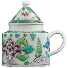 Mustard Pot, Enamelled in Famille Rose, Bow, circa 1753