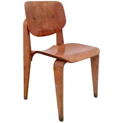 Corbetta Rare Plywood Chair, circa 1956, Italy