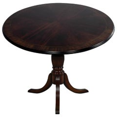 Flame Mahogany Round Duncan Phyfe Table