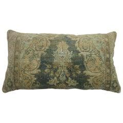 Large Vintage Persian Green Rug Pillow