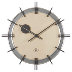 Elegant Telenorma Electric Brass Wall Clock